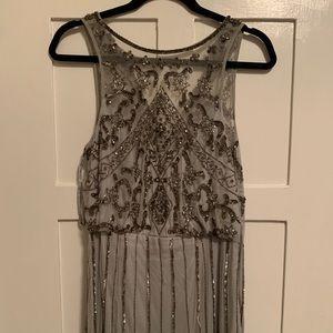 Anthropologie BHLDN Amada Dress, sequin gray